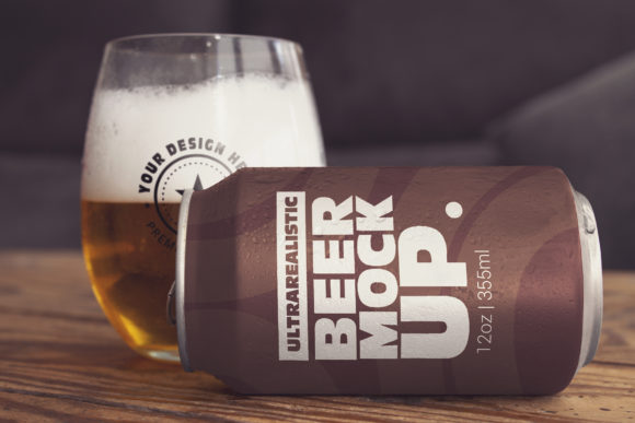 Download Free Beer Can Lying Mockup Graphic By Smartdesigns Creative Fabrica SVG Cut Files