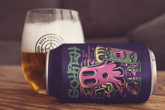 Download Free Beer Can Lying Mockup Graphic By Smartdesigns Creative Fabrica for Cricut Explore, Silhouette and other cutting machines.