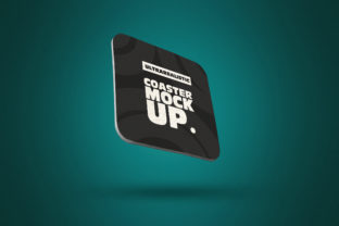 Print on Demand: Clean Perspective Square Coaster Mockup Graphic Product Mockups By SmartDesigns