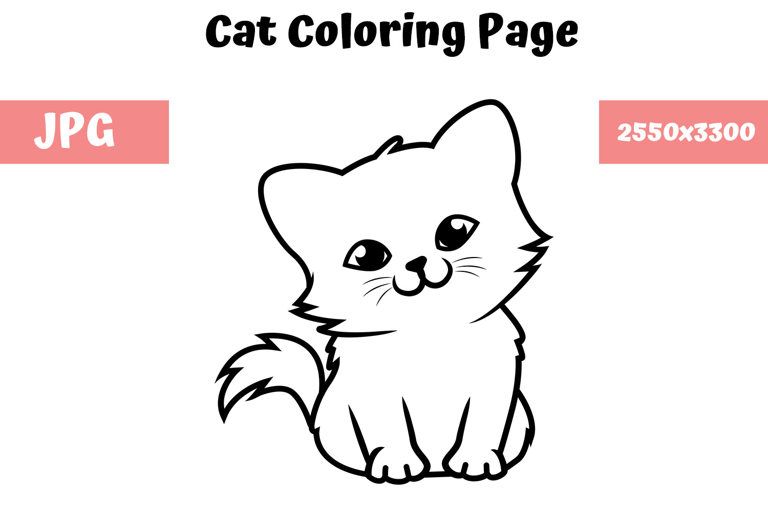 Download Free Coloring Book Page For Kids Cat 02 Graphic By Mybeautifulfiles for Cricut Explore, Silhouette and other cutting machines.