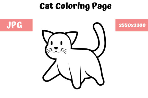 Download Free Coloring Book Page For Kids Cat Graphic By Mybeautifulfiles for Cricut Explore, Silhouette and other cutting machines.