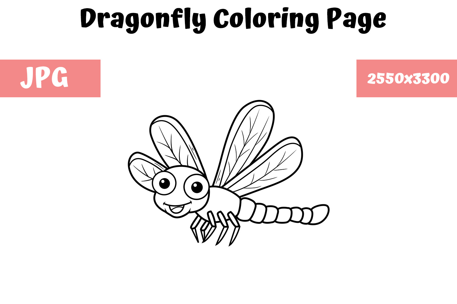 Dragonfly Coloring Pages - Kiddo | 1000x1500