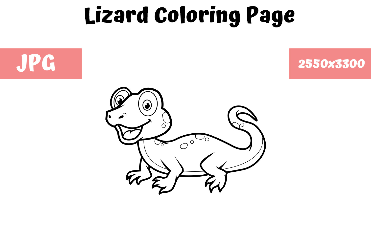 Lizard Coloring Pages For Adults || COLORING-PAGES-PRINTABLE.COM | 1000x1500