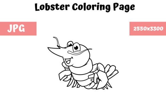 Print on Demand: Coloring Book Page for Kids - Lobster Graphic Coloring Pages & Books Kids By MyBeautifulFiles