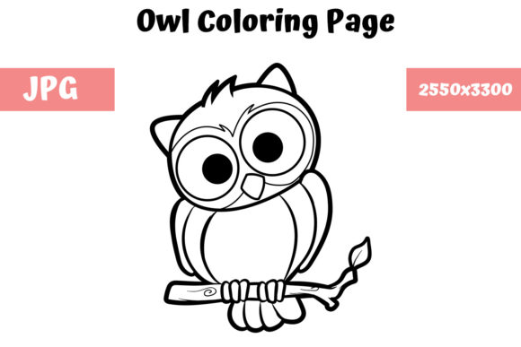 Download Free Coloring Book Page For Kids Owl Graphic By Mybeautifulfiles for Cricut Explore, Silhouette and other cutting machines.