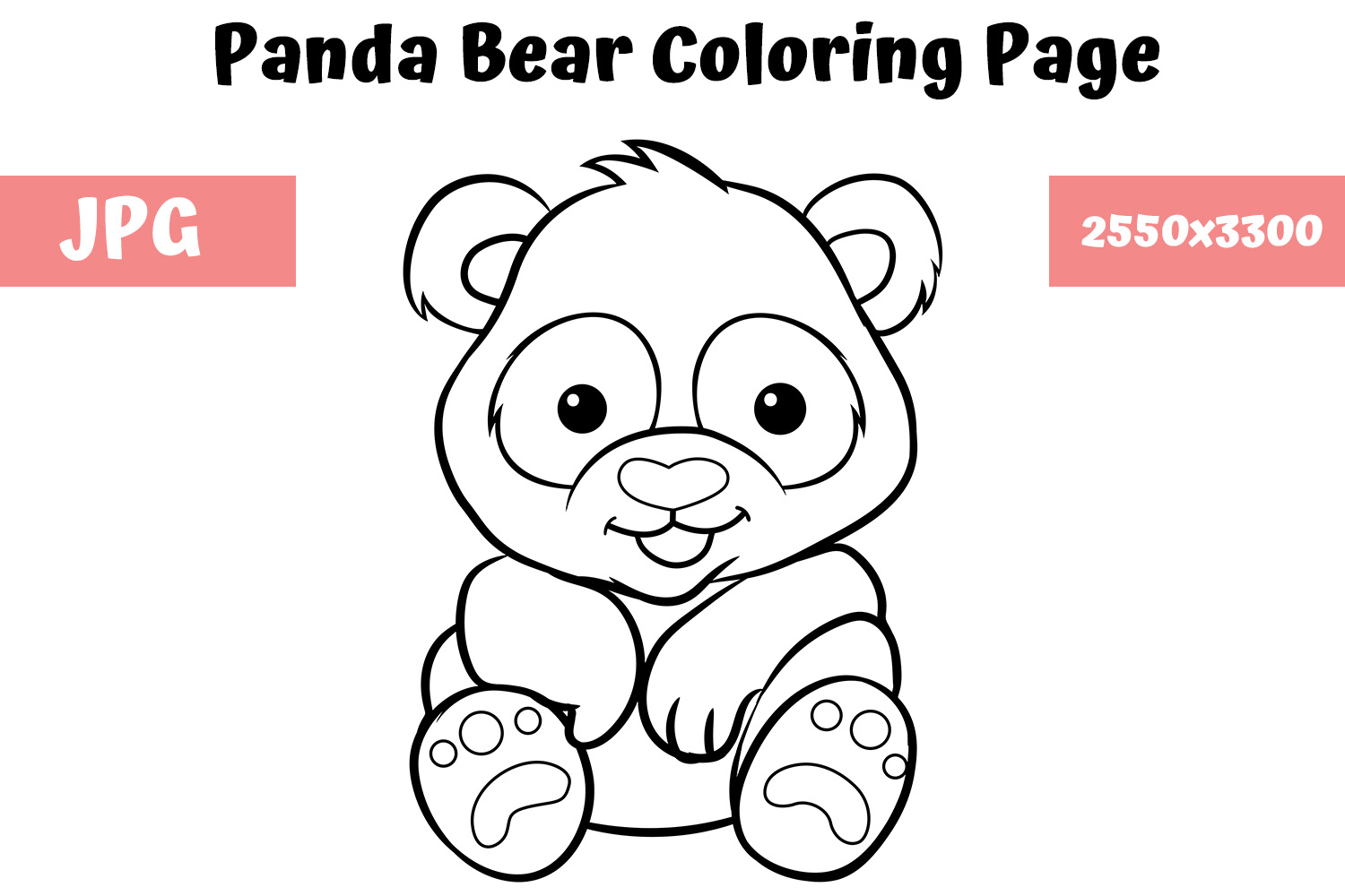 Top 25 Free Printable Cute Panda Bear Coloring Pages Online | Bear ... | 1000x1500
