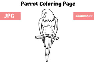 Print on Demand: Coloring Book Page for Kids - Parrot Graphic Coloring Pages & Books Kids By MyBeautifulFiles