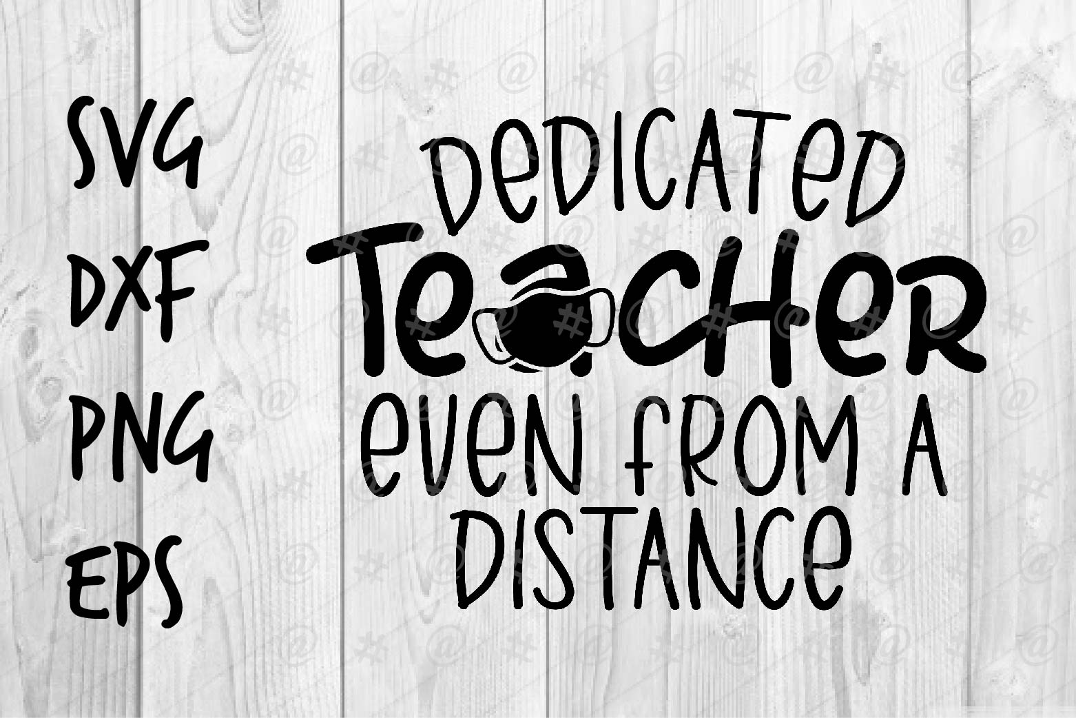 Download Free Dedicated Teacher Graphic By Spoonyprint Creative Fabrica for Cricut Explore, Silhouette and other cutting machines.