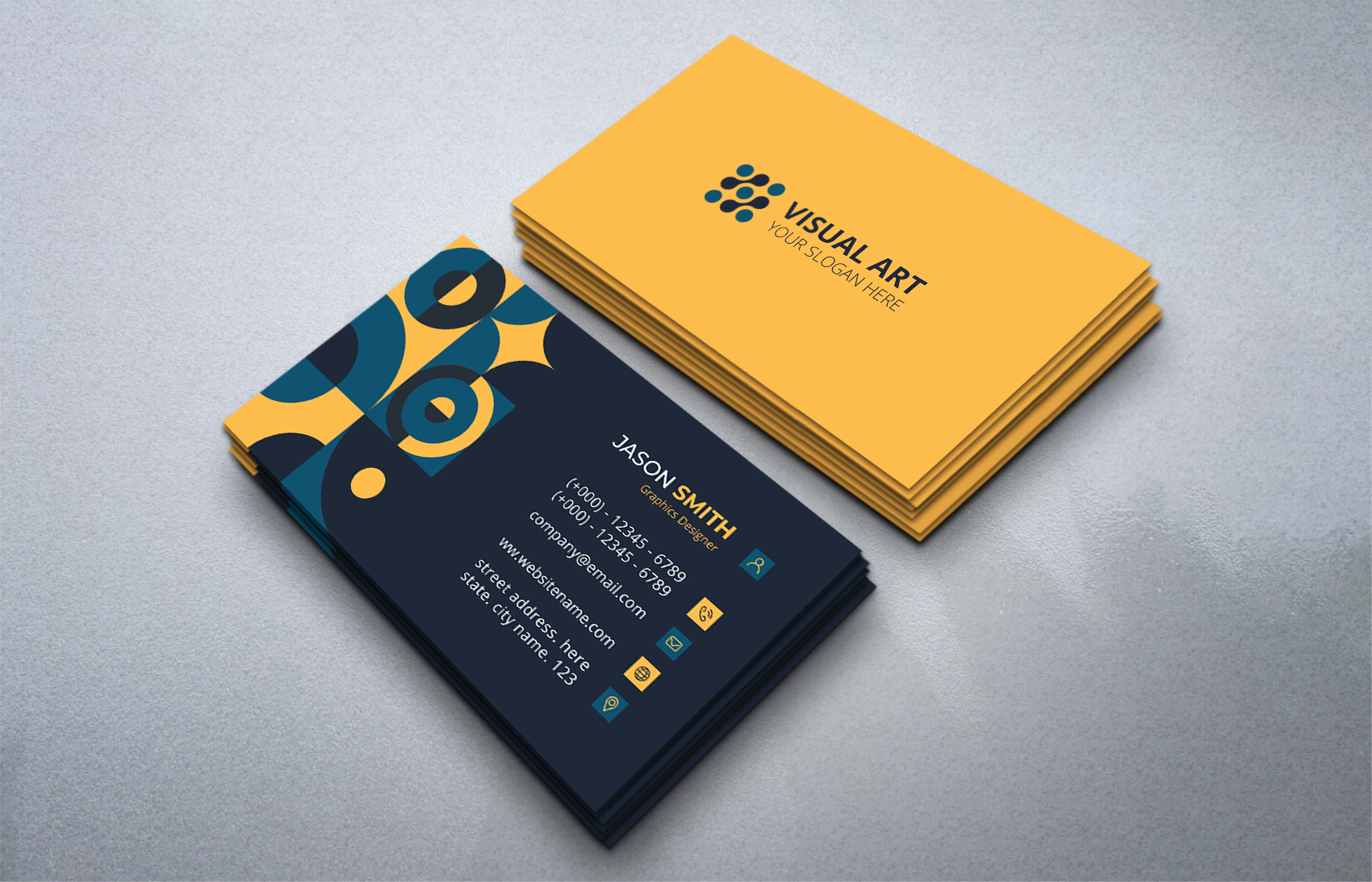 Download Free Elegant Business Card With Retro Style Graphic By Medelwardi for Cricut Explore, Silhouette and other cutting machines.