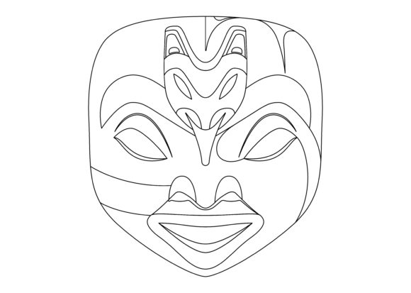 Download Free Ethnic Mask Black 1 Graphic By Studioisamu Creative Fabrica SVG Cut Files