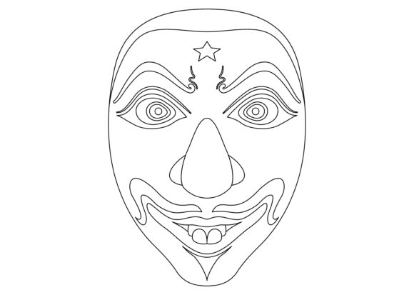 Download Free Ethnic Mask Black 2 Graphic By Studioisamu Creative Fabrica SVG Cut Files