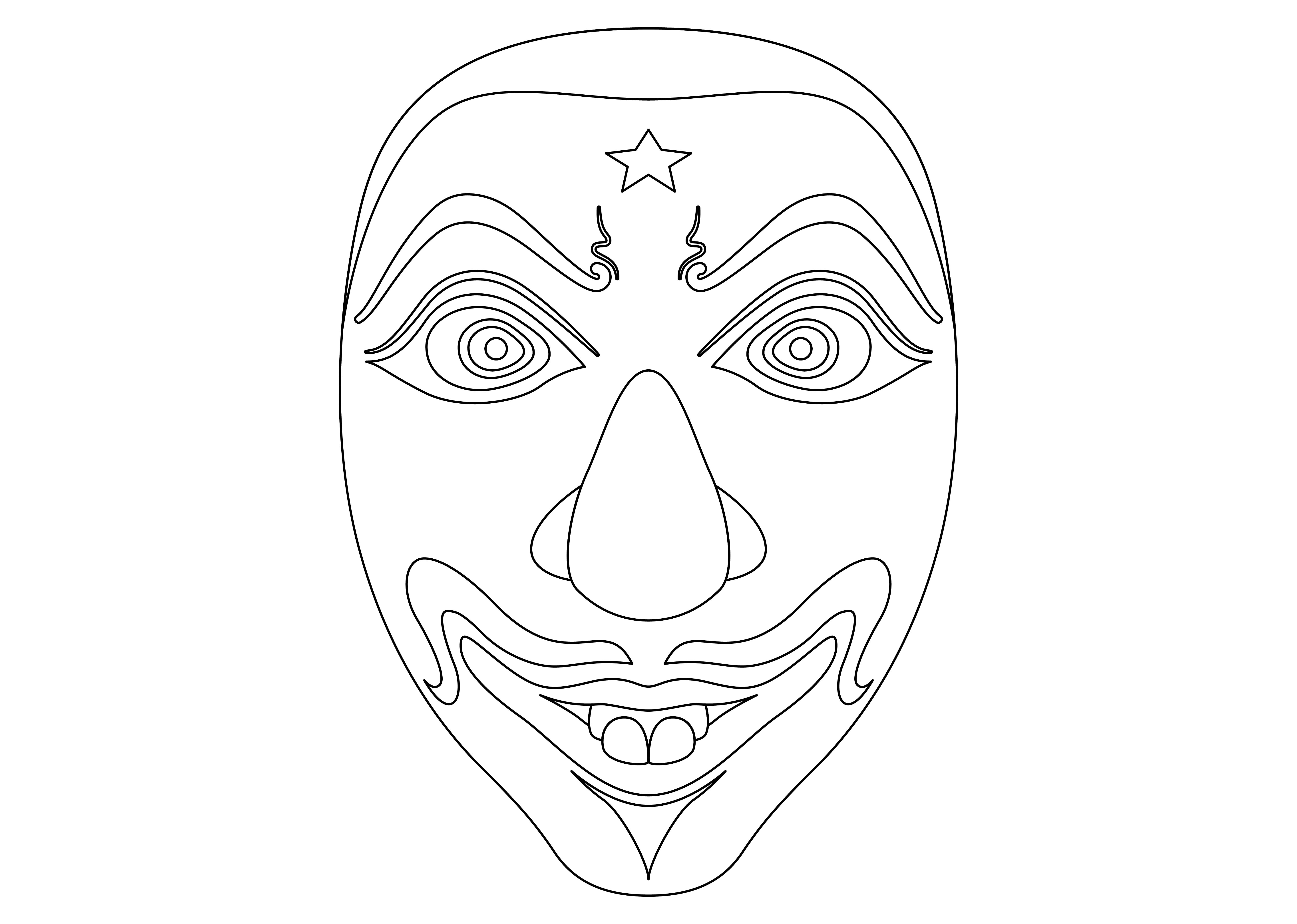 Download Free Ethnic Mask Black 2 Graphic By Studioisamu Creative Fabrica for Cricut Explore, Silhouette and other cutting machines.