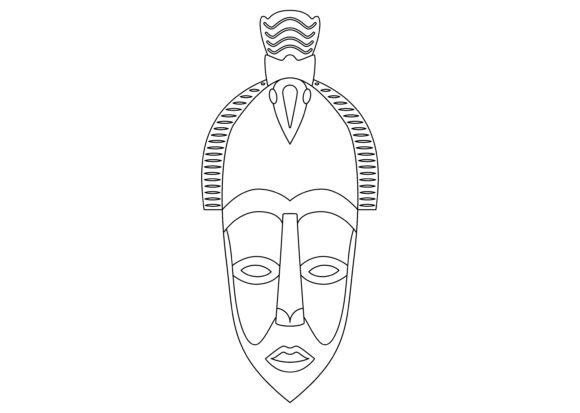 Download Free Ethnic Mask Black 4 Graphic By Studioisamu Creative Fabrica for Cricut Explore, Silhouette and other cutting machines.