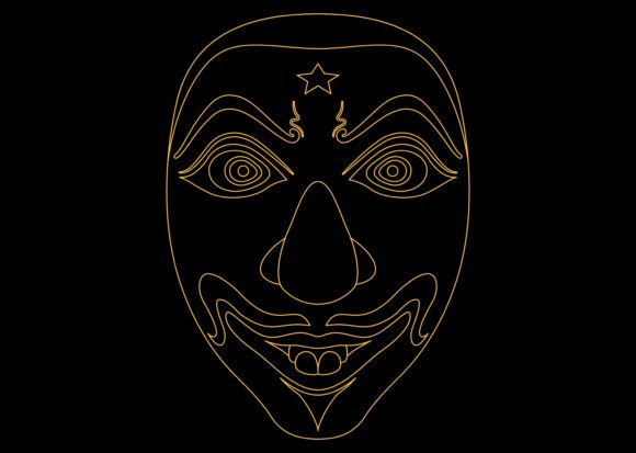 Ethnic Mask Gold 2 Graphic By Studioisamu Creative Fabrica