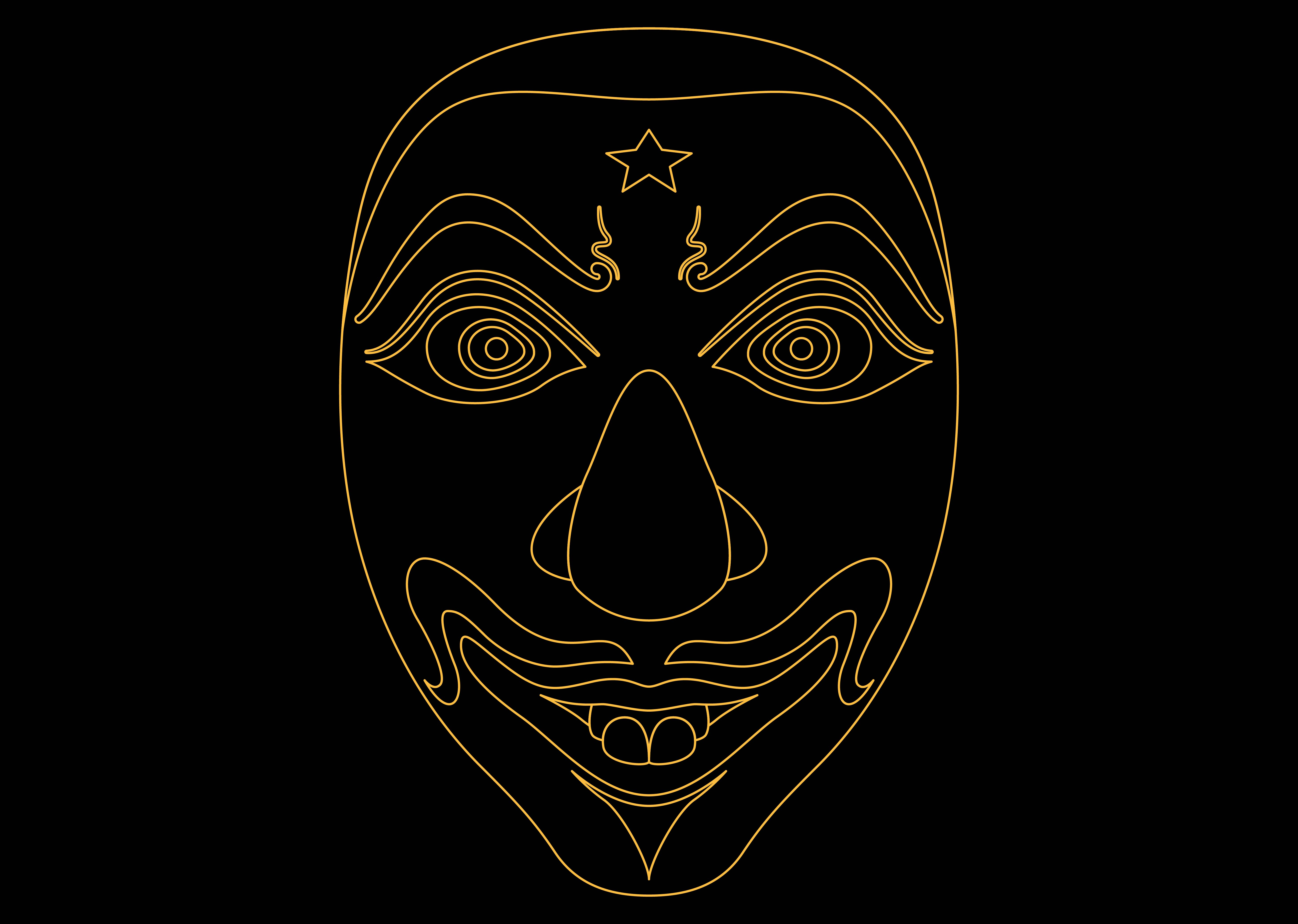 Download Free Ethnic Mask Gold 2 Graphic By Studioisamu Creative Fabrica for Cricut Explore, Silhouette and other cutting machines.
