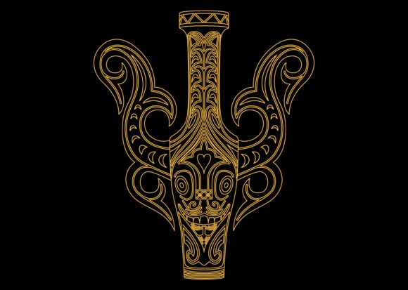 Ethnic Mask Gold 3 Graphic By Studioisamu Creative Fabrica