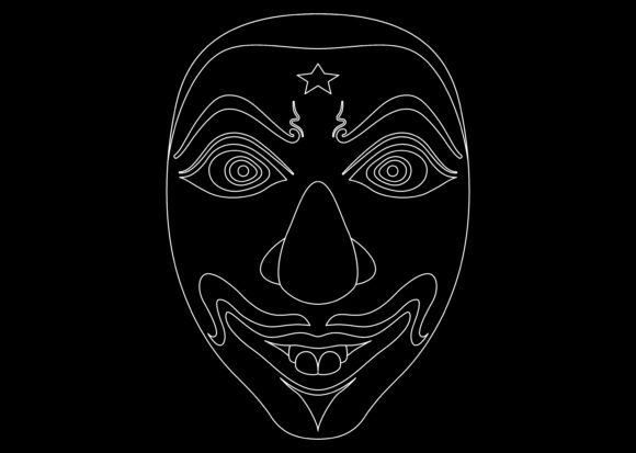 Download Free Ethnic Mask White 2 Graphic By Studioisamu Creative Fabrica for Cricut Explore, Silhouette and other cutting machines.