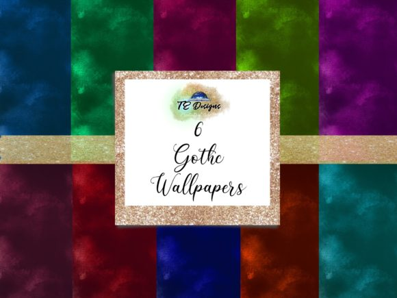 Print on Demand: Gothic Wallpapers Graphic Backgrounds By TE Designs