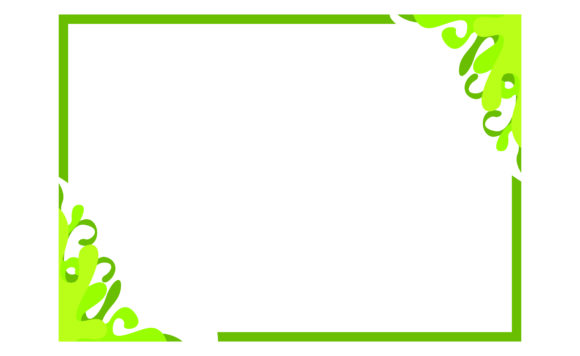 Green Ornament Frame Graphic