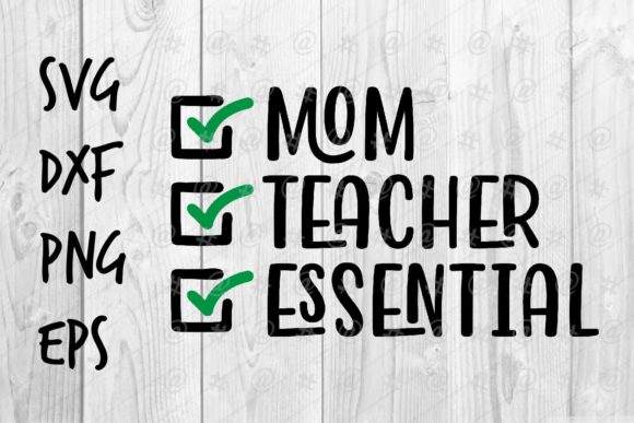 Download Free Mom Teacher Essential Graphic By Spoonyprint Creative Fabrica for Cricut Explore, Silhouette and other cutting machines.