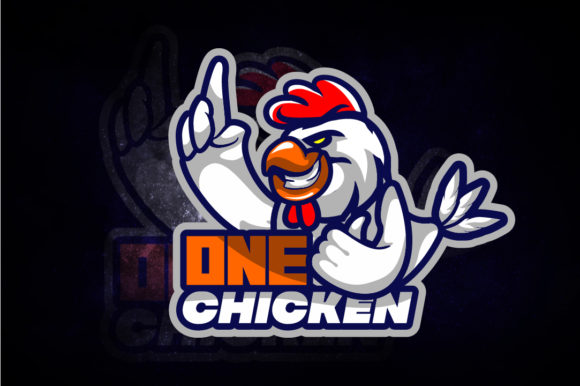 One Chicken E-Sport Logo Graphic Logos By remarena