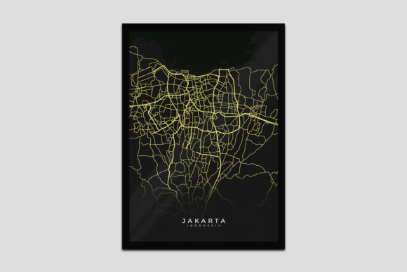 Download Free Poster Design Lighting Map Jakarta Graphic By Fadilahridwan69 for Cricut Explore, Silhouette and other cutting machines.