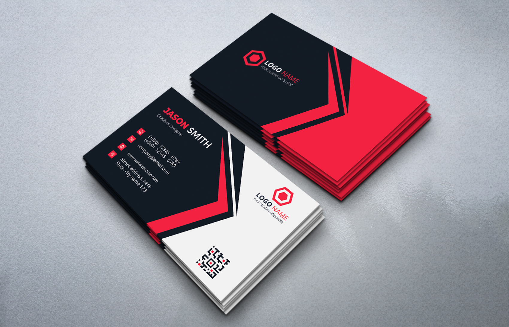 Download Free Professional Business Card Graphic By Medelwardi Creative Fabrica for Cricut Explore, Silhouette and other cutting machines.