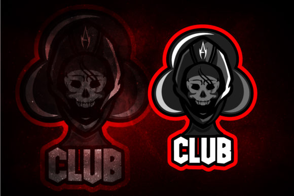Download Free Skull Club E Sport Logo Graphic By Remarena Creative Fabrica for Cricut Explore, Silhouette and other cutting machines.