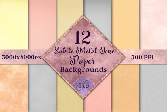 Print on Demand: Subtle Metal Tone Paper Backgrounds Graphic Backgrounds By SapphireXDesigns