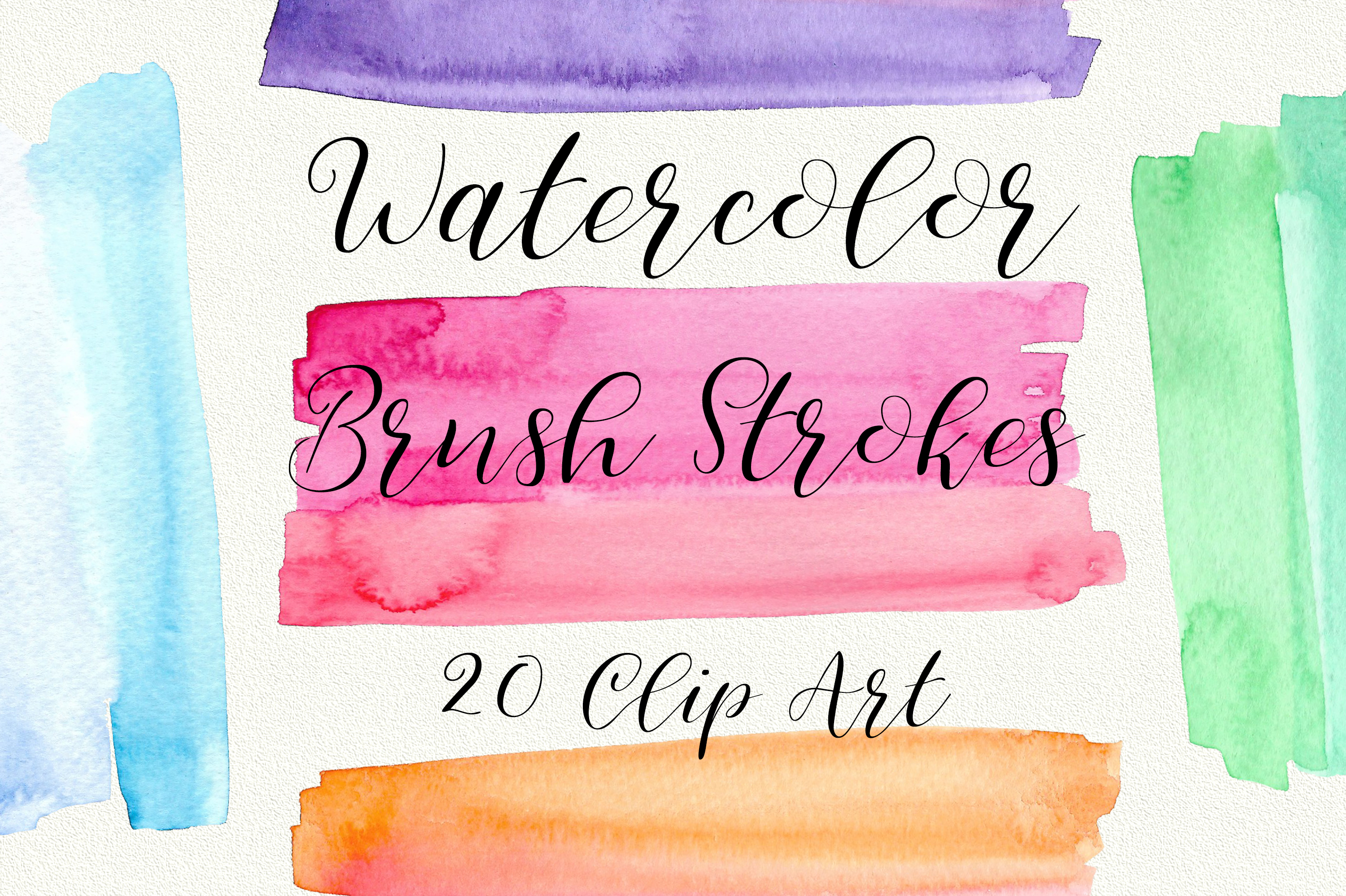 Download Free Watercolor Brush Strokes Clip Art Graphic By Pinkpearly for Cricut Explore, Silhouette and other cutting machines.