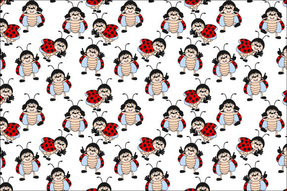 Download Free Cute Lady Bug Pattern Graphic By Curutdesign Creative Fabrica for Cricut Explore, Silhouette and other cutting machines.