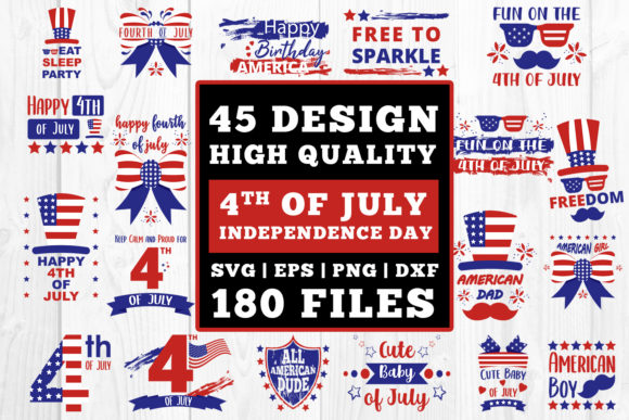 Download Free 4th Of July Bundle Cutfiles Graphic By Damasyp Creative Fabrica for Cricut Explore, Silhouette and other cutting machines.