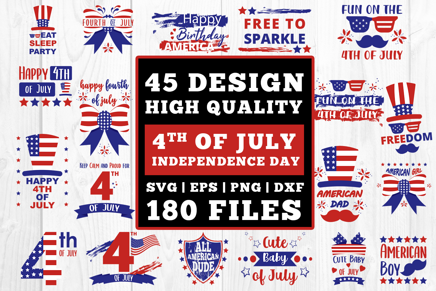 4th Of July Bundle Cutfiles Graphic By Damasyp Creative Fabrica