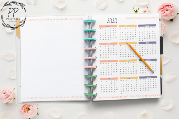 Download Free 7 Months Planner 2020 3 Graphic By Printable Planners Creative for Cricut Explore, Silhouette and other cutting machines.