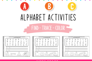 Alphabet: Find - Trace - Color Flipbook Graphic K By Happy Kiddos