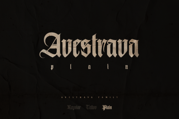 Print on Demand: Avestrava Plain Blackletter Font By ilhamtaro