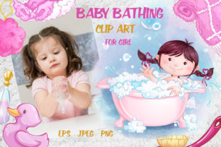 Baby Bathing (for Girls) Graphic Illustrations By Maycat
