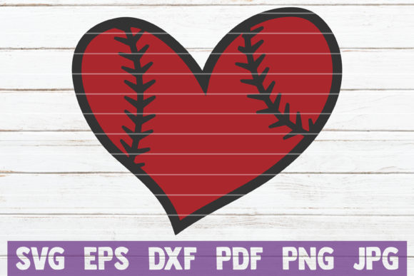 Baseball Heart Graphic Crafts By MintyMarshmallows