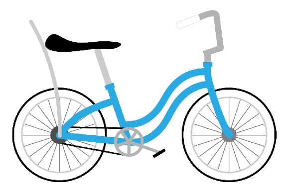 Bicycle Clipart Graphic Item