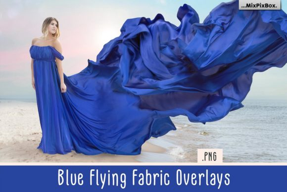 Download Free Blue Flying Fabric Overlays Graphic By Mixpixbox Creative Fabrica for Cricut Explore, Silhouette and other cutting machines.