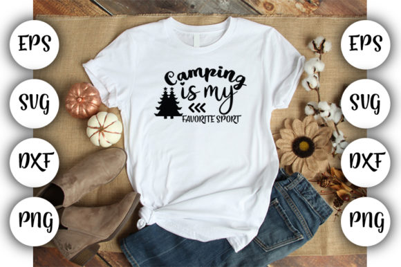Download Free Camping Is My Favorite Sport Graphic By Design Store Creative for Cricut Explore, Silhouette and other cutting machines.