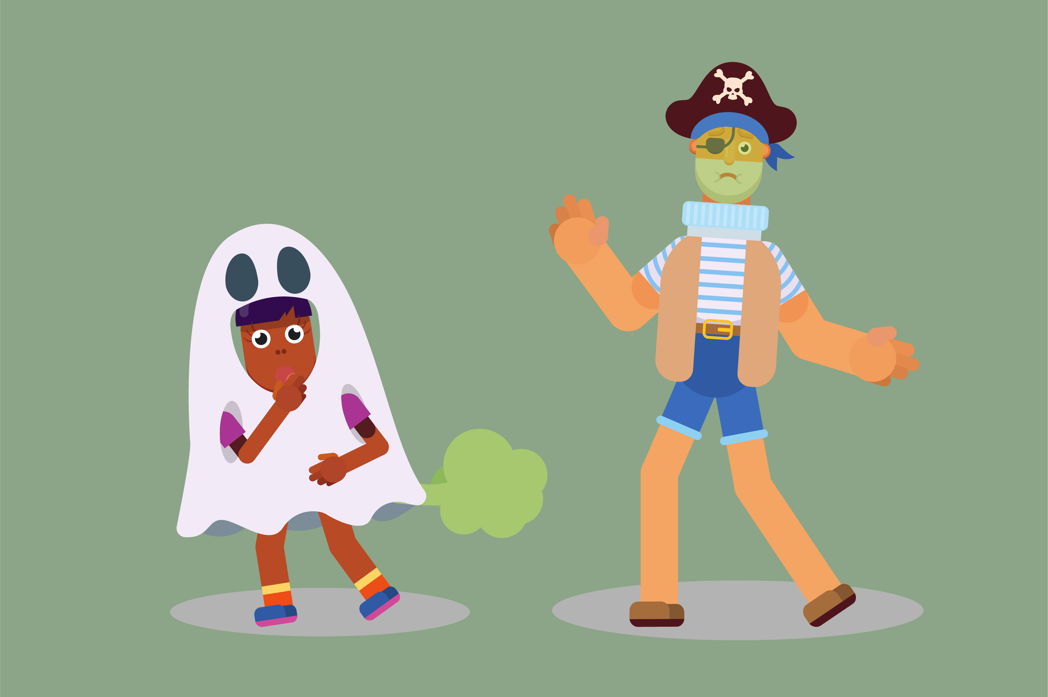 Download Free Characters A Pirate And A Weird Kid Graphic By Altumfatih for Cricut Explore, Silhouette and other cutting machines.