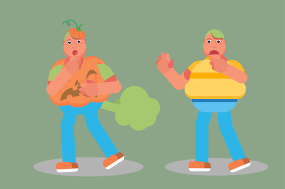 Download Free Characters Of Fat Twins Disgust Theme Graphic By Altumfatih SVG Cut Files