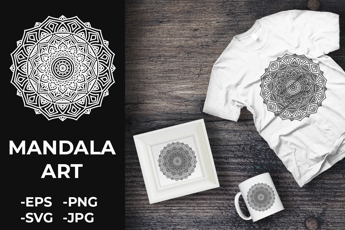 Download Free Circular Pattern Mandala Art 144 Graphic By Azrielmch for Cricut Explore, Silhouette and other cutting machines.