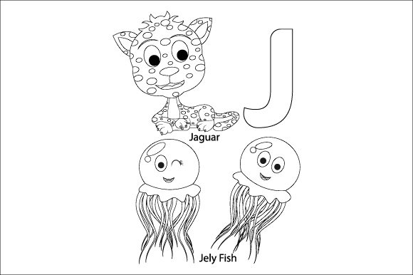 Download Free Coloring The Letter J For Children Graphic By Curutdesign Creative Fabrica for Cricut Explore, Silhouette and other cutting machines.
