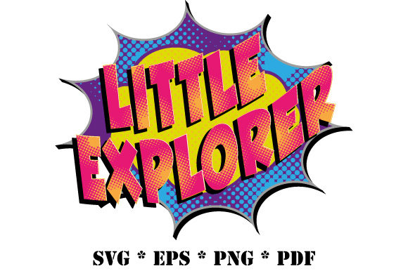 Download Free Comic Little Explorer Speech Bubble Graphic By Graphicsfarm for Cricut Explore, Silhouette and other cutting machines.