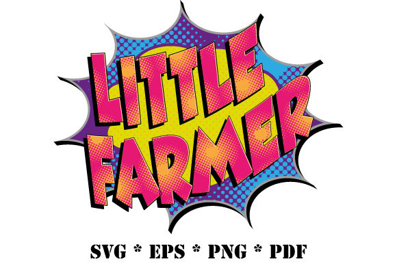 Download Free Comic Little Farmer Speech Bubble Graphic By Graphicsfarm for Cricut Explore, Silhouette and other cutting machines.