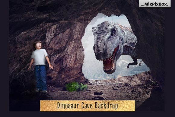 Print on Demand: Dinosaur Backdrop Graphic Layer Styles By MixPixBox