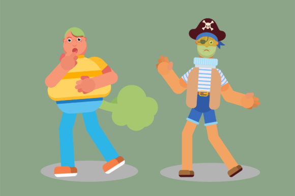 Download Free Disgusting Characters Pirate And A Boy Graphic By Altumfatih for Cricut Explore, Silhouette and other cutting machines.