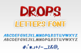Print on Demand: Drops Letters Display Font By OWPictures